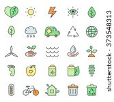 outline multicolored eco icons... | Shutterstock .eps vector #373548313