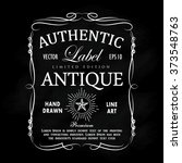 hand drawn frame antique label... | Shutterstock .eps vector #373548763