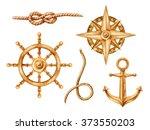 Gold Nautical Elements  Riggin...
