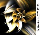 golden fractal flower  digital... | Shutterstock . vector #373559923