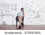 your dreams can send you far... | Shutterstock . vector #373567693