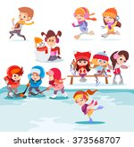 illustration with groups of... | Shutterstock .eps vector #373568707