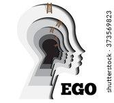human ego vector illustration....   Shutterstock .eps vector #373569823