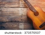 Wooden Guitar. Close Up Of...