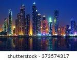 view of dubai by night  uae | Shutterstock . vector #373574317