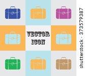 travel bag icon | Shutterstock .eps vector #373579387