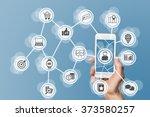 online mobile marketing by... | Shutterstock . vector #373580257