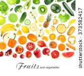 fresh color fruits and...   Shutterstock . vector #373582417
