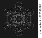 metatron's cube. flower of life.... | Shutterstock .eps vector #373593787