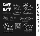 save the date logos on... | Shutterstock .eps vector #373597477