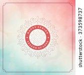 spring vector typographic...   Shutterstock .eps vector #373598737