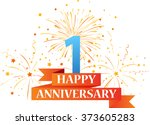 happy anniversary celebration... | Shutterstock .eps vector #373605283