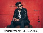 gorgeous and stylish. handsome... | Shutterstock . vector #373620157