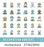 collection of avatar icons... | Shutterstock .eps vector #373623043