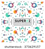 super modern and colorful... | Shutterstock .eps vector #373629157