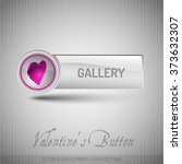 vector button with pink heart.