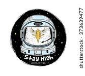 Eagle Astronaut  Hand Drawn Ar...