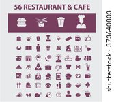 restaurant concept icons  hotel ... | Shutterstock .eps vector #373640803