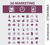 marketing  market icons  signs... | Shutterstock .eps vector #373643863
