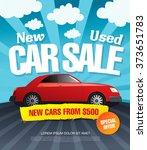 car sale. vector illustration | Shutterstock .eps vector #373651783