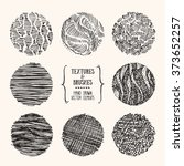 hand drawn textures and brushes.... | Shutterstock .eps vector #373652257
