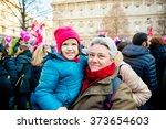 milan  italy   january 23 ... | Shutterstock . vector #373654603