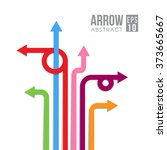 arrow direct signs abstract... | Shutterstock .eps vector #373665667