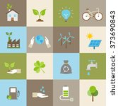 ecology icons  protection of... | Shutterstock .eps vector #373690843