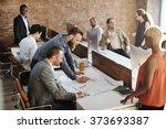 colleagues creative design... | Shutterstock . vector #373693387
