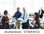 business people meeting... | Shutterstock . vector #373693513