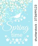 spring card with text spring... | Shutterstock .eps vector #373699123