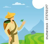 Tea Picker Woman Cartoon...