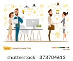 business characters set.... | Shutterstock .eps vector #373704613