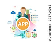 app concepts for web banner and ... | Shutterstock .eps vector #373714063