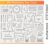 thin line icons for business... | Shutterstock .eps vector #373714663
