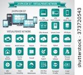 vpn icon set   24 icon set  ...   Shutterstock .eps vector #373720543