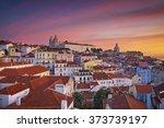 lisbon. image of lisbon ... | Shutterstock . vector #373739197
