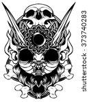 the demon skull | Shutterstock .eps vector #373740283