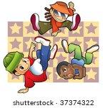 hip hop dance children | Shutterstock .eps vector #37374322