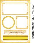 gold photo frame with corner... | Shutterstock .eps vector #373748467