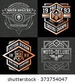 motocross sport emblem graphic... | Shutterstock .eps vector #373754047