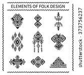 elements of folk design. tribal ... | Shutterstock .eps vector #373756237