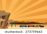 western scene with train | Shutterstock . vector #373759663