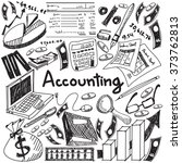accounting and financial... | Shutterstock .eps vector #373762813