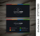 dark company business card | Shutterstock .eps vector #373773283