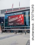 Small photo of TORONTO, CANADA - FEBRUARY 6, 2016: Entrance of Air Canada Centre (ACC). ACC is a multi-purpose indoor sporting arena in Toronto. The NBA All-Star Game will take place in ACC on February 14, 2016.