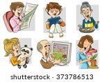 i and my family | Shutterstock .eps vector #373786513