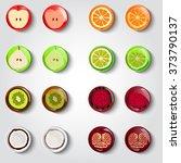 vector set of fruit icons....   Shutterstock .eps vector #373790137