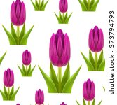 Seamless Pattern Of Pink And...