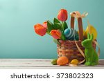Easter Holiday Basket With Egg...